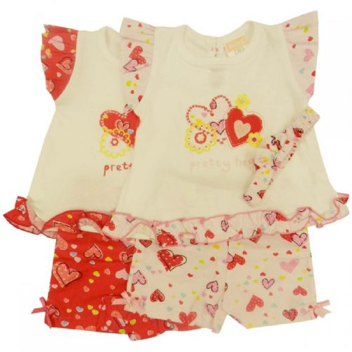 PRETTY HEARTS EMBROIDERED SET
